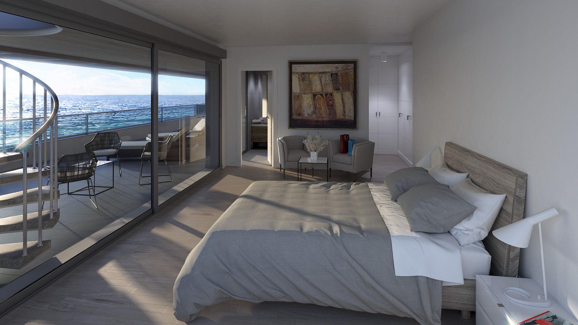 dormitorio blau de mar apartamentos playa de aro costa brava