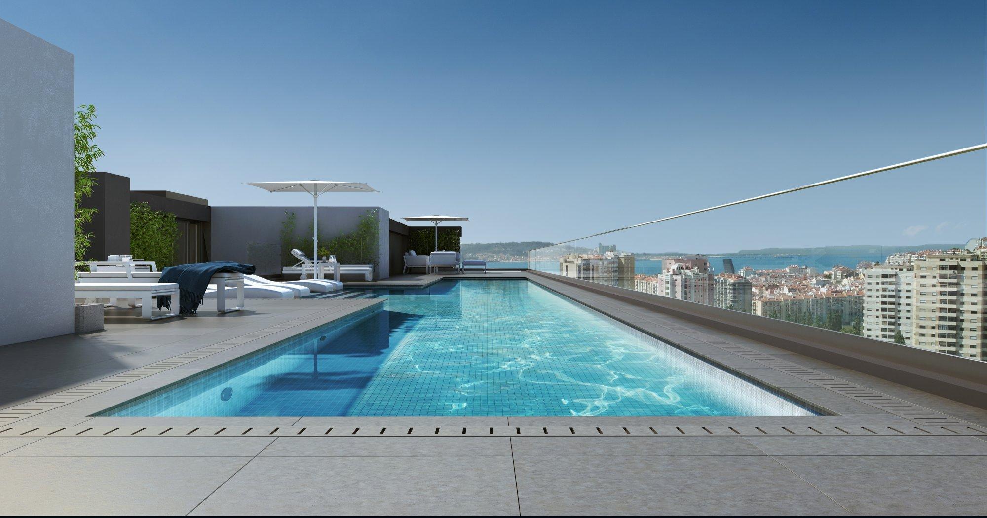 apartamentos obra nueva en lisboa con piscina