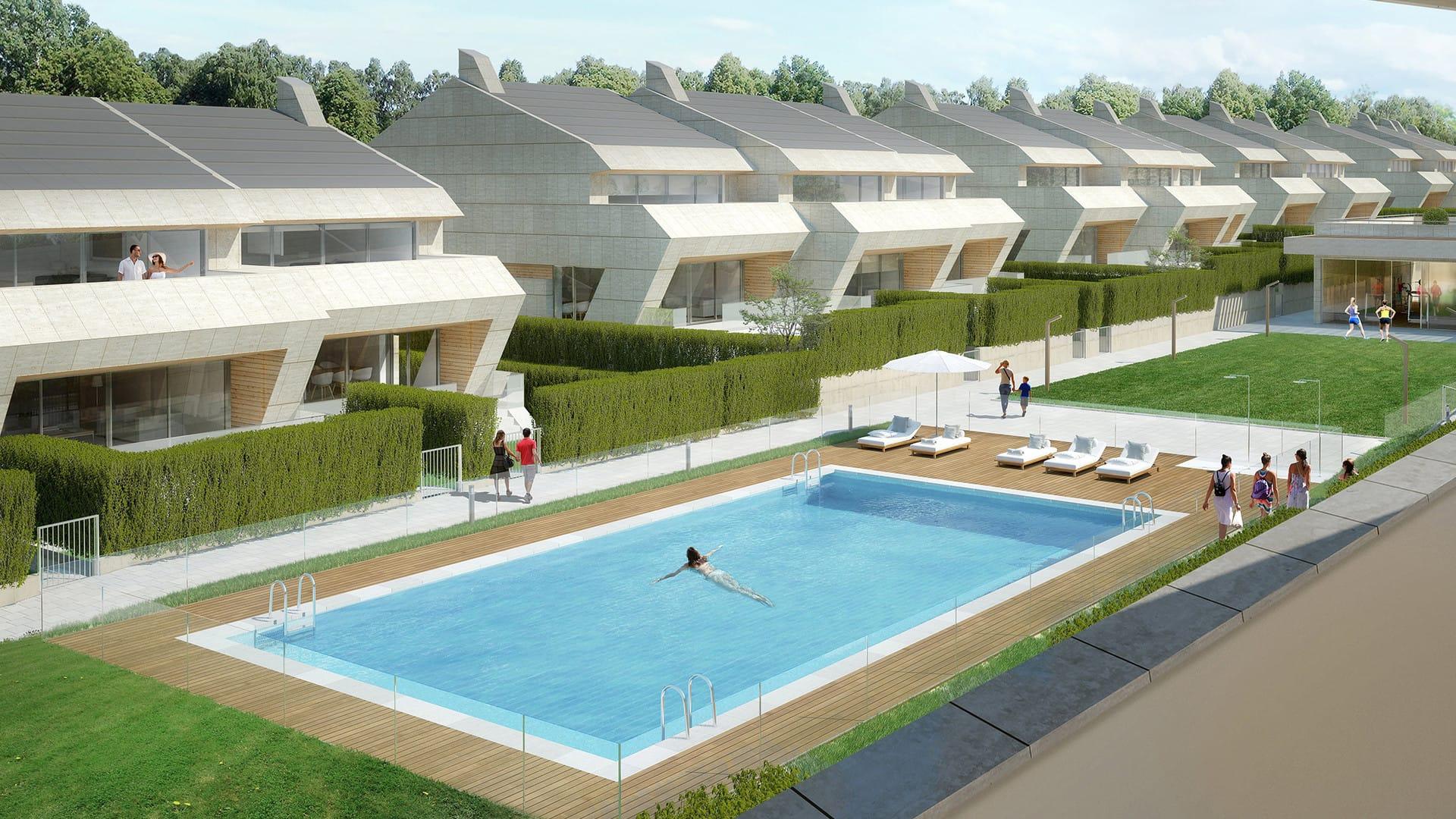 Islas ons vivienda unifamiliar en boadilla del monte gestilar - Proyecto piscina privada ...