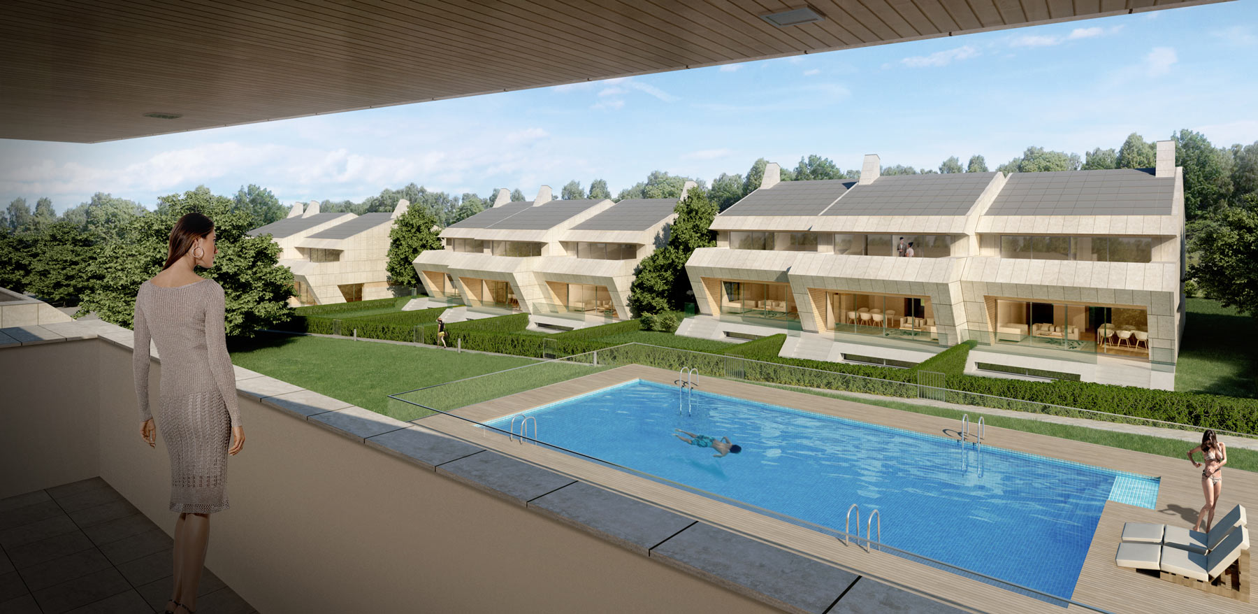 Townhouses of new construction in Boadilla del Monte