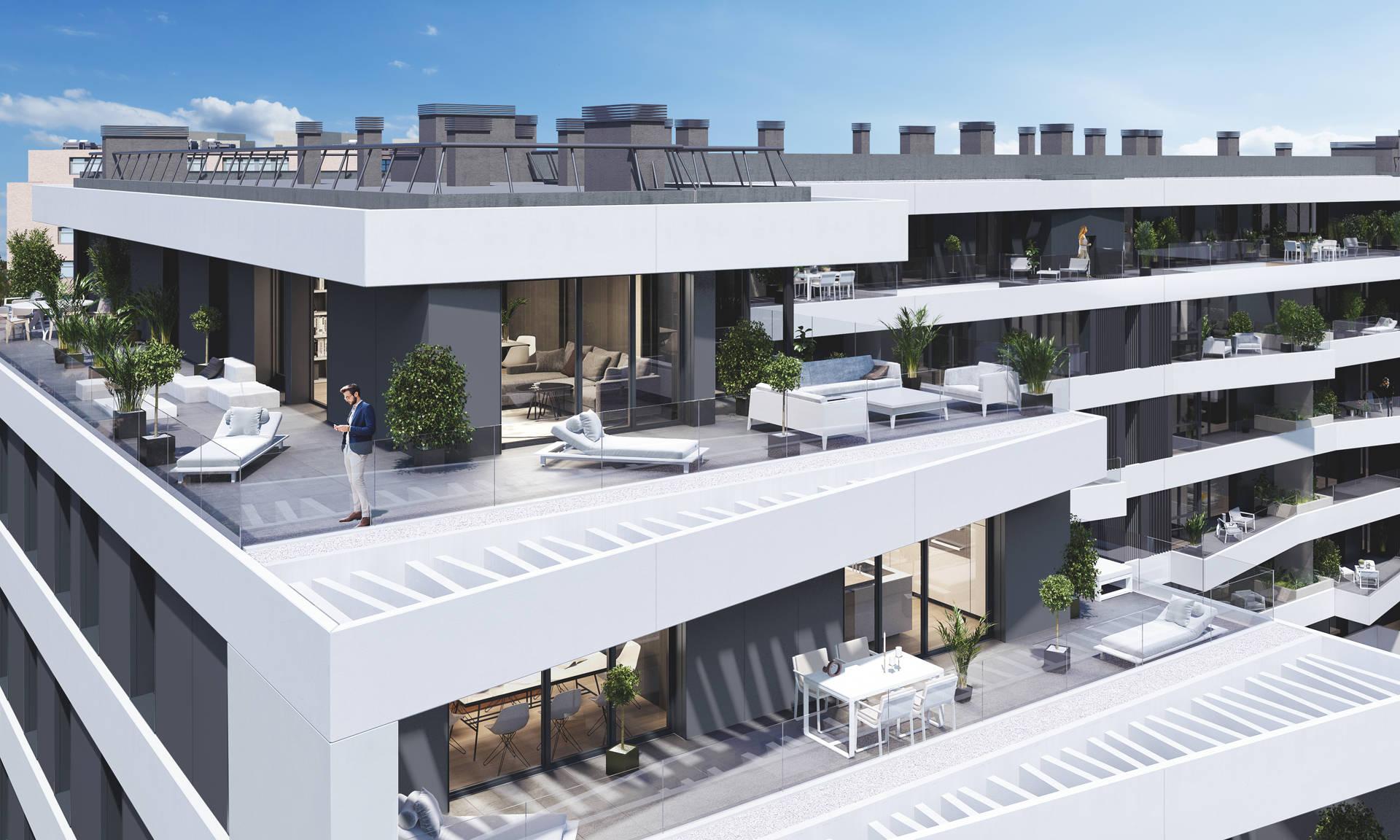 piso con terraza en madrid norte