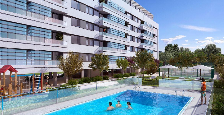 piscina viviendas sinesio delgado valle de mena