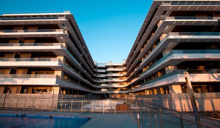 fachada apartamentos obra nueva playa de aro