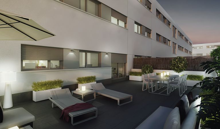 terraza cal font viviendas en venta igualada