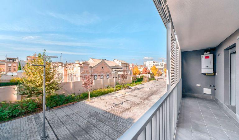 terraza vivienda obra nueva igualada