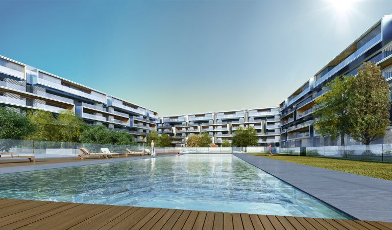 piscina isla arosa obra nueva alcala de henares