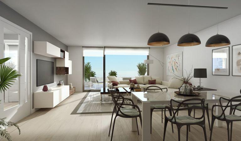 comedor pisos obra nueva Isla de Cortegada