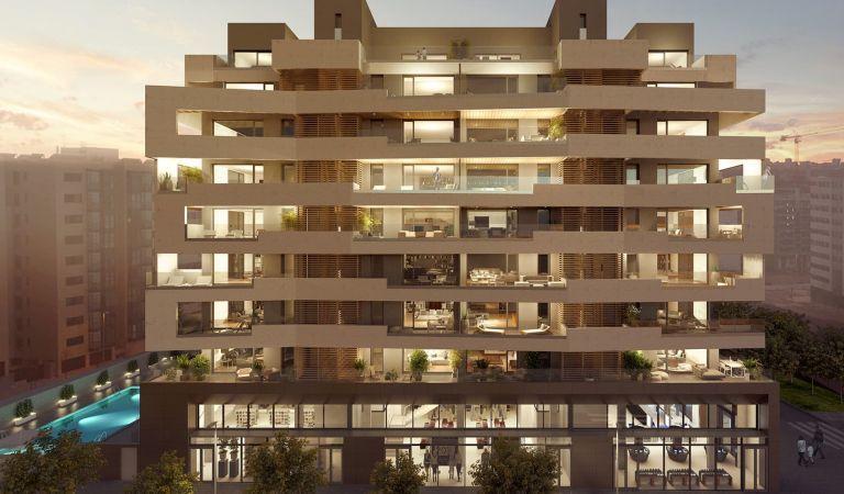 fachada pisos obra nueva valdebebas