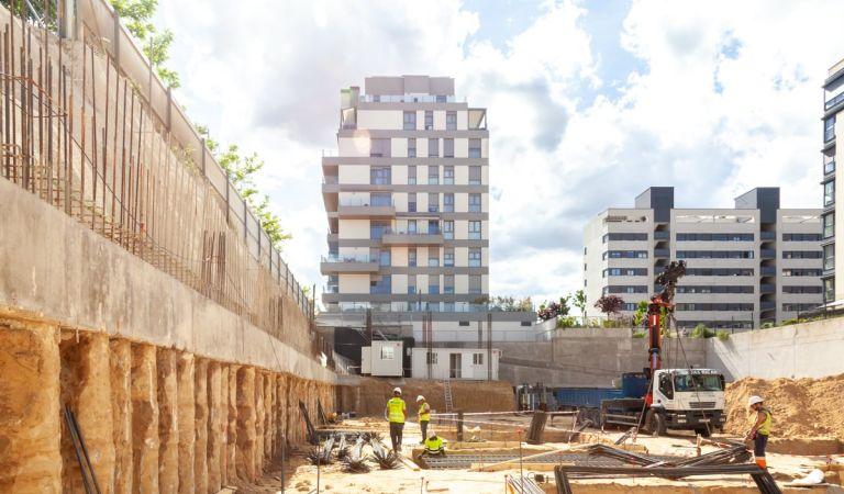Obras promoción pisos obra nueva Valdebebas