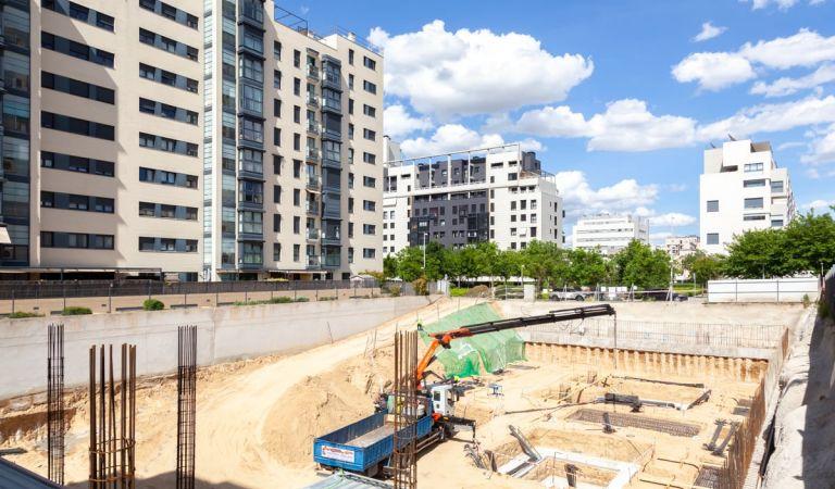 Estado obras promoción pisos obra nueva Valdebebas
