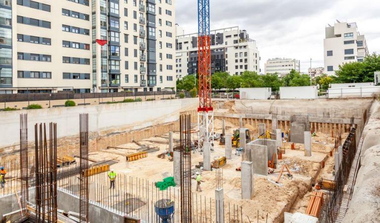 Estado obras pisos obra nueva Valdebebas