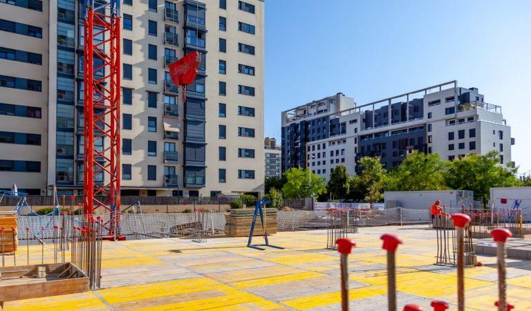 Avance obras venta de pisos en Valdebebas