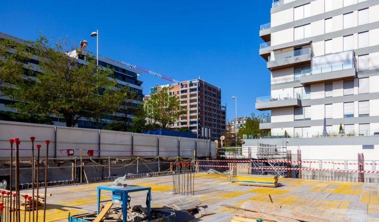 Obras venta de pisos en Valdebebas