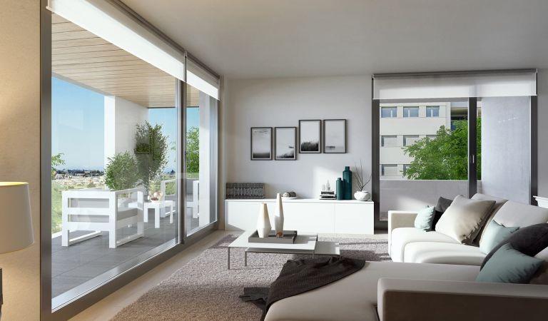 salon pisos obra nueva en Valdebebas