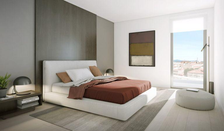 dormitorio pisos obra nueva sabadell