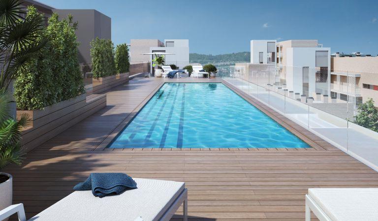 pisos con piscina sabadell de obra nueva