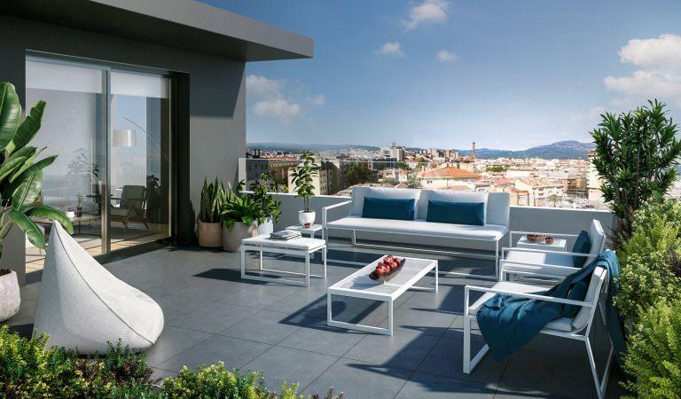terraza pisos obra nueva sabadell