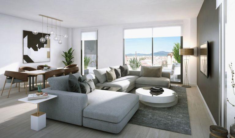 salon pisos obra nueva sabadell