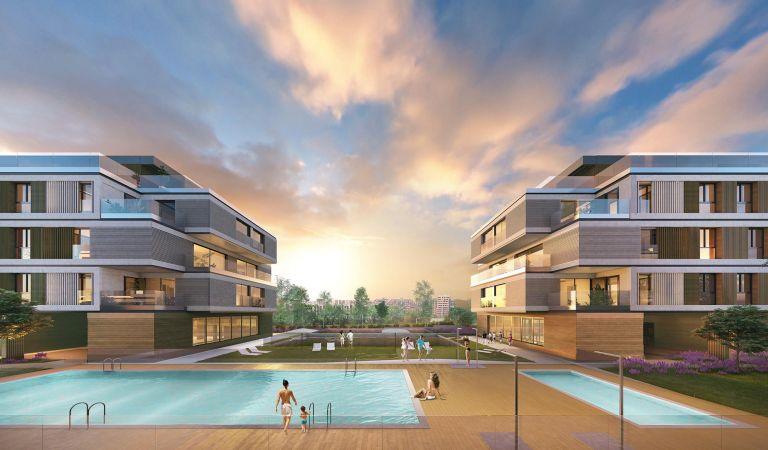 piscina isla la toja pisos obra nueva san sebastian de los reyes