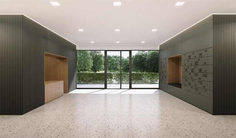 Hall para novos apartamentos en Lisboa