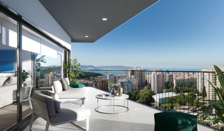 apartamentos obra nueva en lisboa con terraza