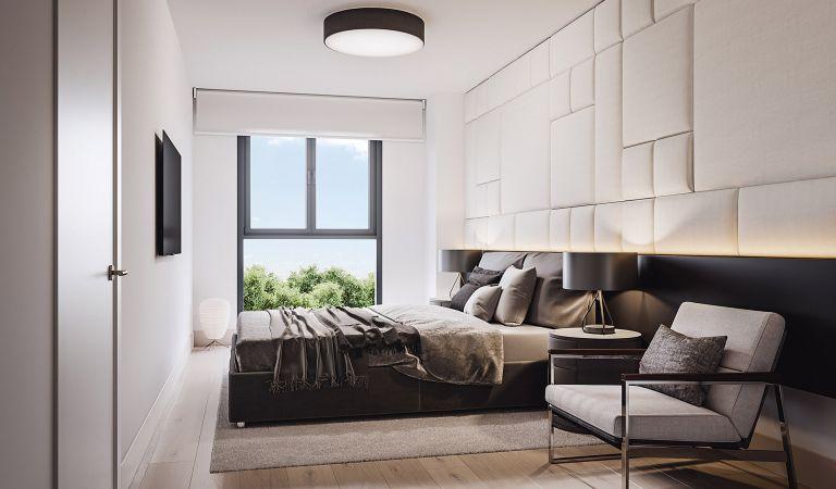 Dormitorio Viviendas obra nueva Oleiros Isla de Santa Cruz