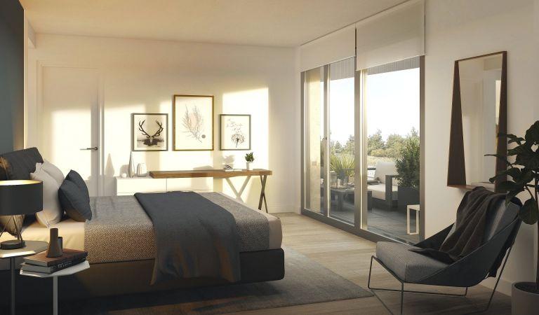dormitorio pisos obra nueva madrid norte