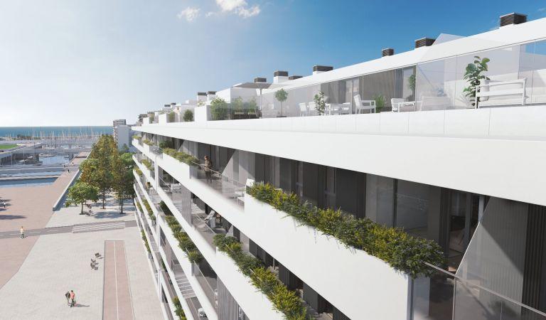 terraza obra nueva badalona vistas puerto