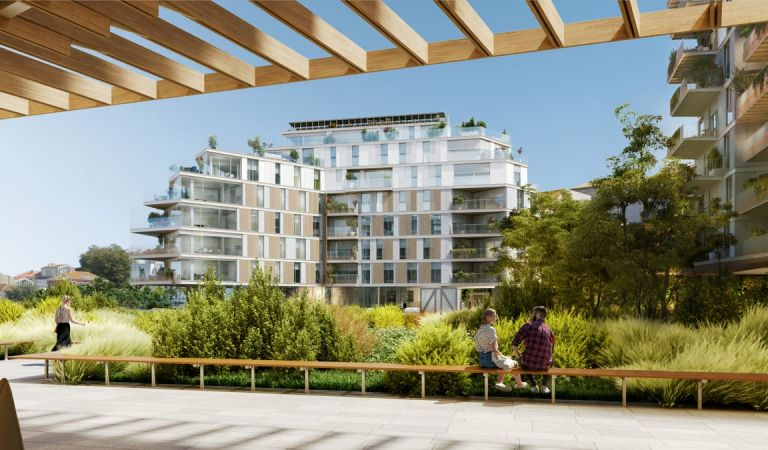 Jardín de nuestras viviendas nuevas en Vigo