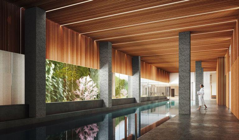 Piscina en viviendas obra nueva en Vigo