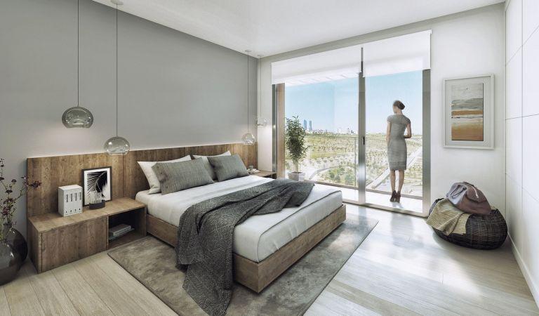 dormitorio pisos obra nueva valdebebas madrid
