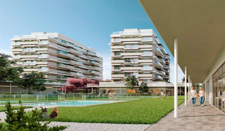 piscina pisos obra nueva valdebebas madrid noroeste