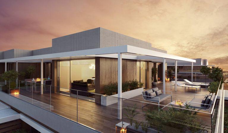 terraza pisos obra nueva valdebebas madrid noroeste