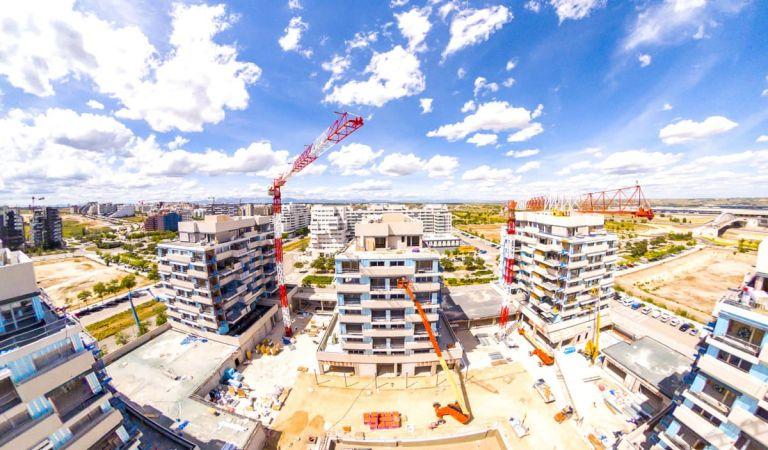 Avance obras viviendas nueva construcción Valdebebas