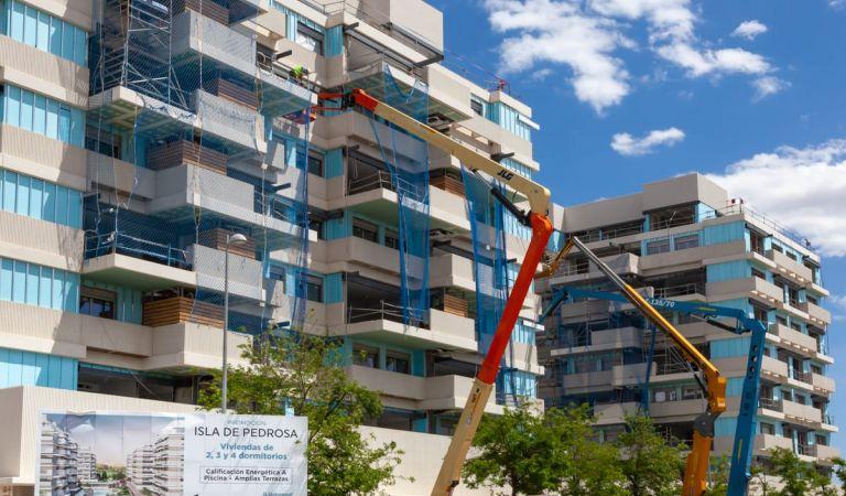 Obras viviendas obra nueva Valdebebas