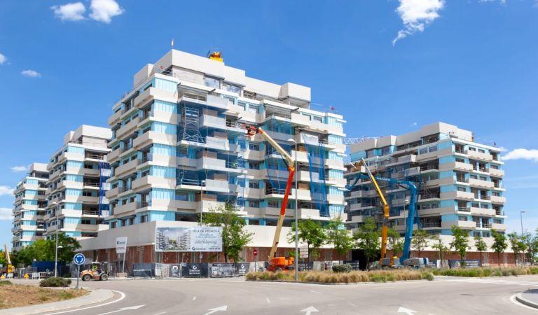 Estado obras viviendas nuevas Valdebebas
