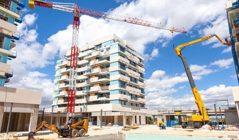 Avance obras Valdebebas Madrid junio 2021