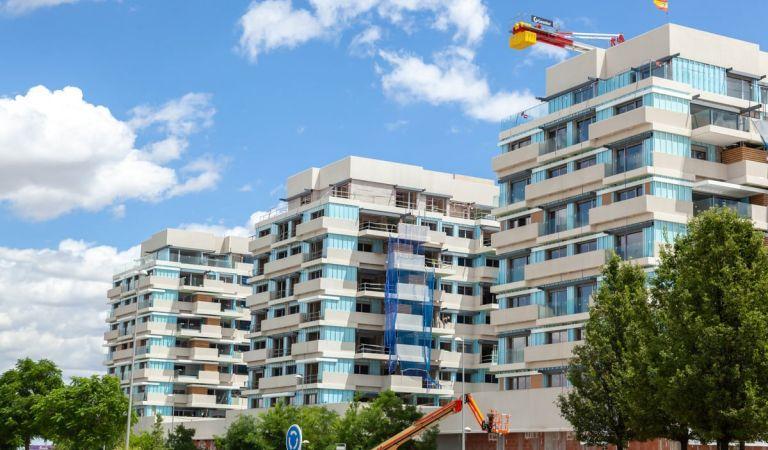 Obras pisos en Valdebebas junio 2021