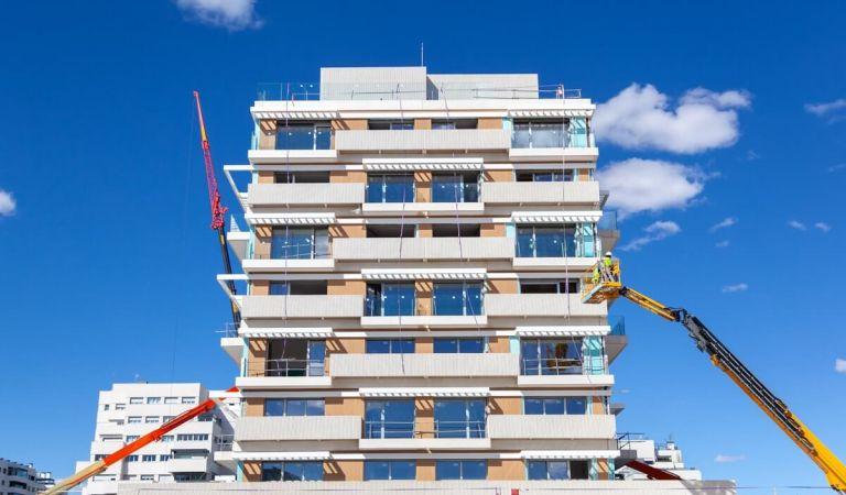 Avance obras pisos de obra nueva en Valdebebas
