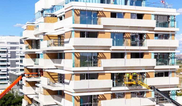 Estado obras pisos de obra nueva en Valdebebas