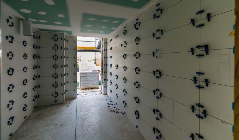 Interior estado obra pisos nuevos en Mallorca enero 2021