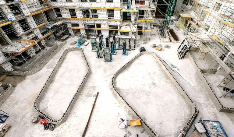 Estado obra pisos nuevos Palma Mallorca febrero 2021