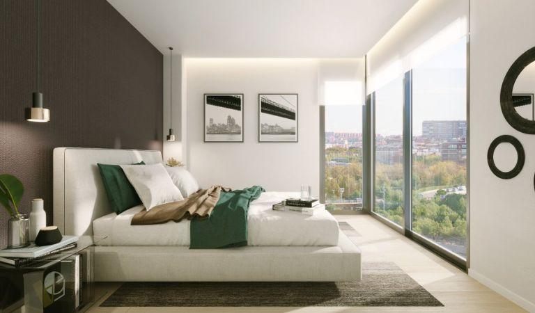 habitacion pisos obra nueva madrid rio