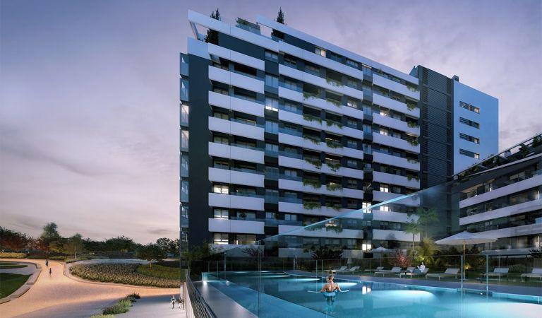 pisos con piscina madrid rio