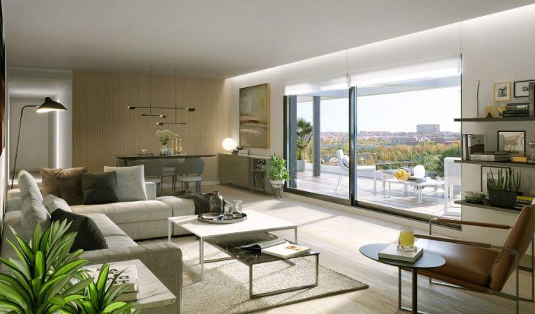 salon pisos obra nueva madrid rio
