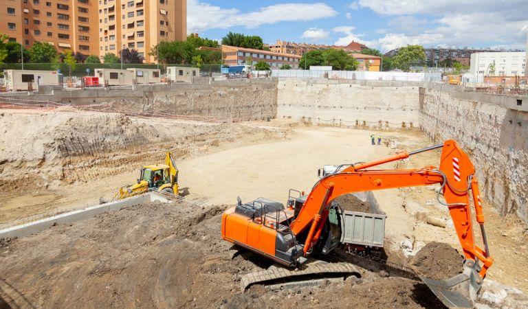 Obras de los pisos nuevos en Madrid Río, River Park