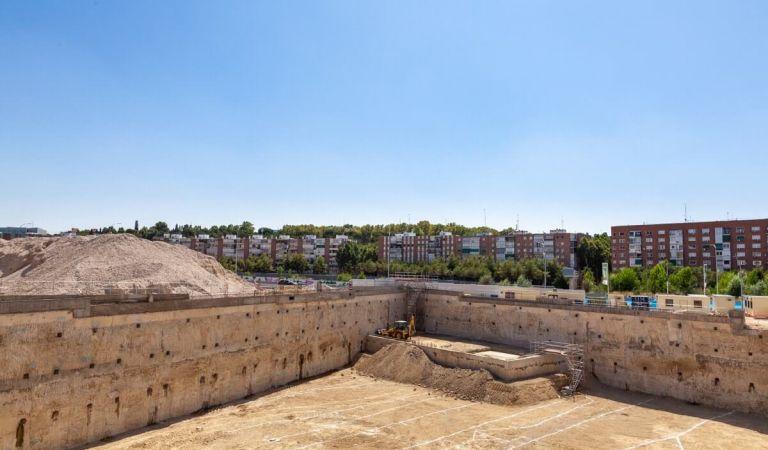 Avance obras pisos en Madrid Río