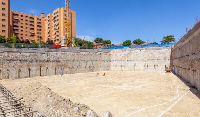 Estado obras pisos en Madrid Río