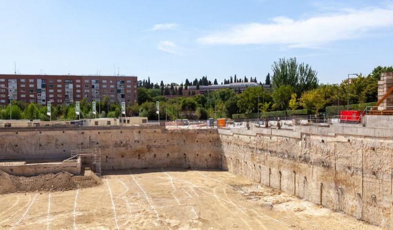 Estado obras pisos en el Calderón