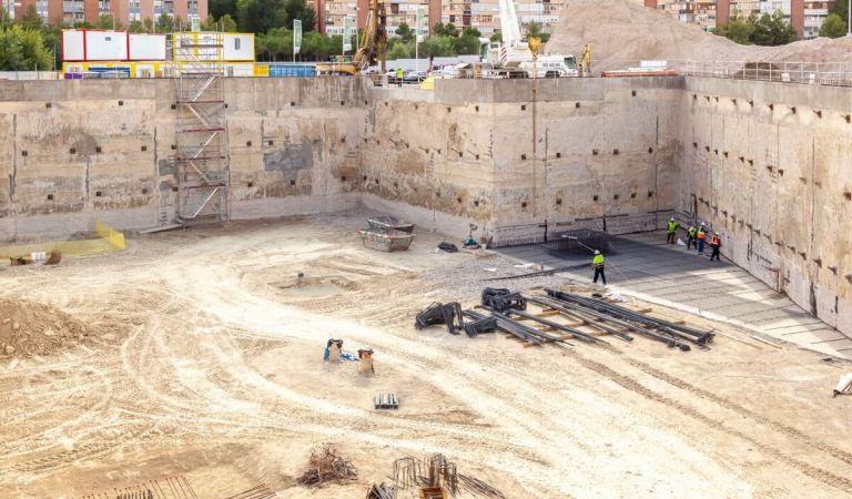 Avance obras pisos Calderón Madrid